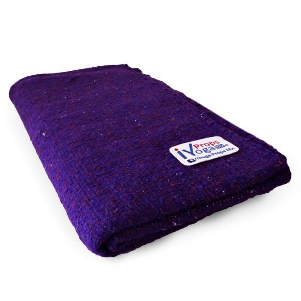 cobija manta para yoga color morado